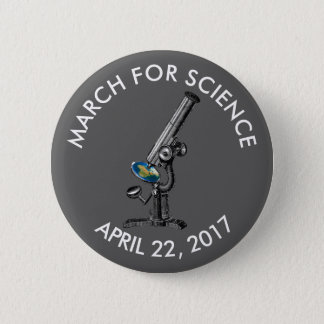 March For Science Vintage Microscope Unofficial Pinback Button