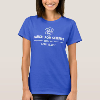 March for Science White Lettering Women's T-Shirt