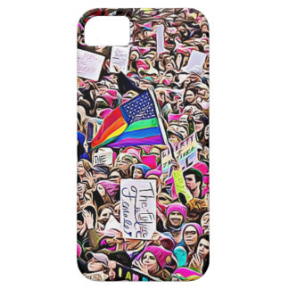 March for Women's Equality Rainbow LGBT Flag iPhone SE/5/5s Case