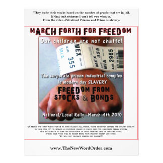 MARCH FORTH FOR FREEDOM -flyers- Flyer