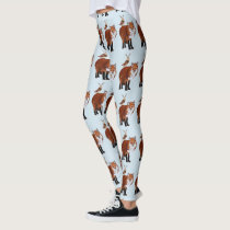 MARCH FOX & ANTLER OWL LEGGINGS
