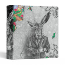March Hare 3 Ring Binder Alice in Wonderland Binde