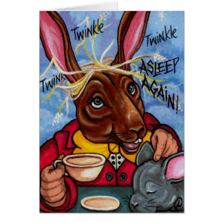 MARCH HARE & DORMOUSE Alice in Wonderland Note Car Card
