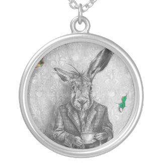 March Hare Necklace Alice in Wonderland Jewelry