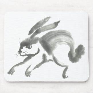 March Hare - Sumi-e [ink painting] Mouse Pad
