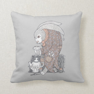 March Hare Throw Pillow