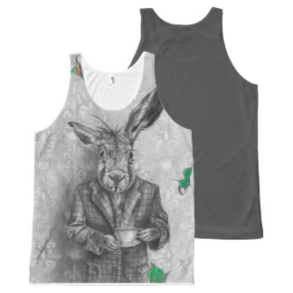 March Hare Unisex All Over Tank Top