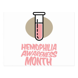 March - Hemophilia Awareness Month Postcard