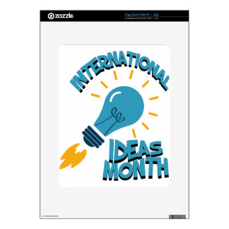 March - International Ideas Month iPad Decals