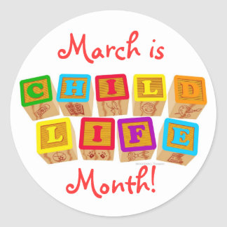March is Child Life Month! stickers