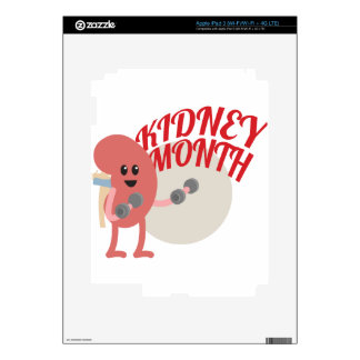 March - Kidney Month - Appreciation Day iPad 3 Decal