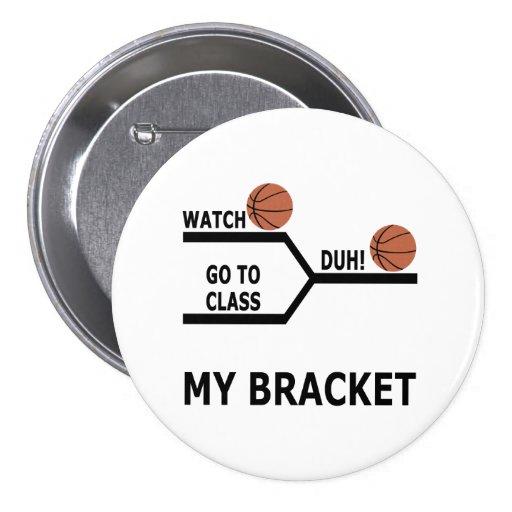 March Madness Basketball Funny Bracket T-Shirts Pin