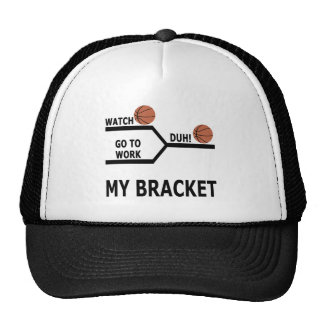 March Madness Basketball Funny Bracket T-Shirts Trucker Hat