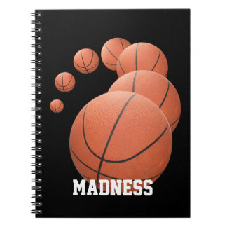 March Madness Basketballs in the Air Notebook