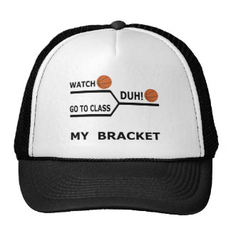 March Madness Funny Basketball Bracket T-Shirt Trucker Hat