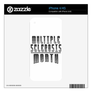 March - Multiple Sclerosis Month Skins For iPhone 4S