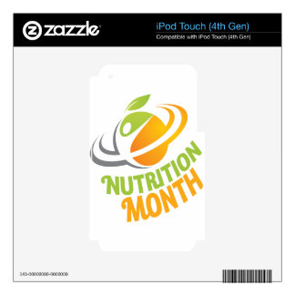 March - Nutrition Month Decal For iPod Touch 4G