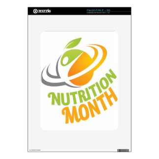 March - Nutrition Month Decals For The iPad