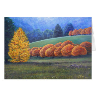 March of Bright Oaks. Card