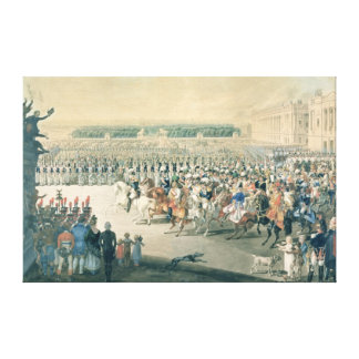 March of the Allied forces into Paris, 1815 Canvas Print
