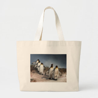 March of the Penguins Large Tote Bag