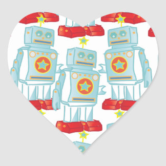 March of the robots heart sticker