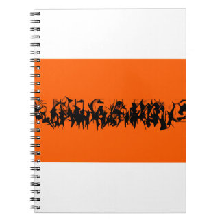 March of the Silhouettes on a Notebook