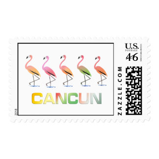 March of the Tropical Flamingos CANCUN Postage Stamps