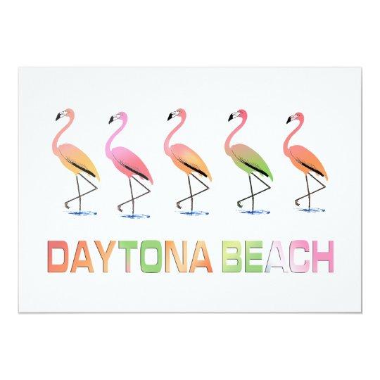 March of the Tropical Flamingos DAYTONA BEACH Card