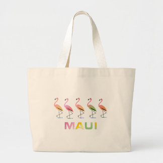 March of the Tropical Flamingos MAUI Canvas Bags