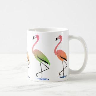 March of the Tropical Flamingos Classic White Coffee Mug