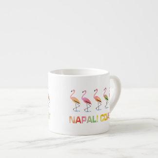 March of the Tropical Flamingos NAPALI COAST Espresso Cup