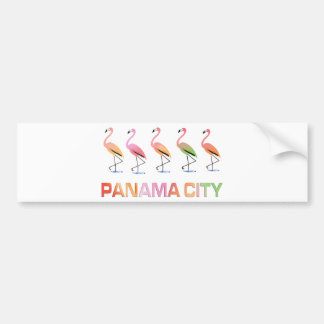 March of the Tropical Flamingos PANAMA CITY Bumper Sticker