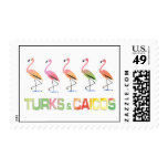 March of the Tropical Flamingos TURKS & CAICOS Stamp