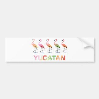 March of the Tropical Flamingos YUCATAN Bumper Sticker