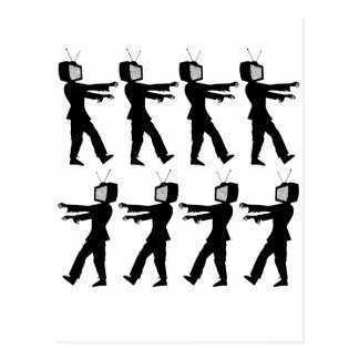 March of the Zombie TV Guys by Chillee Wilson Postcard