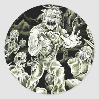 March of the Zombies Classic Round Sticker