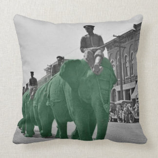 March of thee green elephants Circa 1920 Throw Pillow