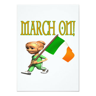 March On 5x7 Paper Invitation Card