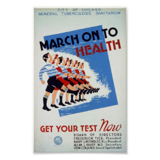March on tho health poster