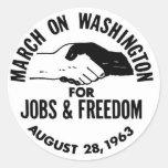 March on Washington 1963 Classic Round Sticker