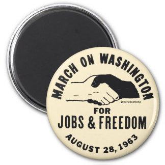March On Washington 2 Inch Round Magnet