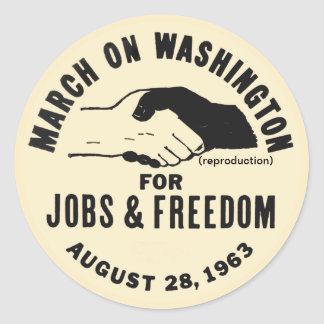 March On Washington Classic Round Sticker