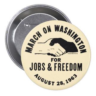March On Washington Pinback Button