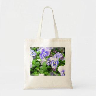 March Pansies Tote Bag