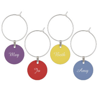 March Sisters, Little Women Wine Charms