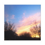 "'MARCH TEXAS SUNSET PHOTO WRAPPED CANVAS"" CANVAS PRINTS"