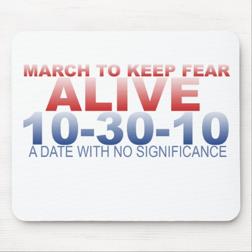 MARCH TO KEEP FEAR ALIVE MOUSE PAD