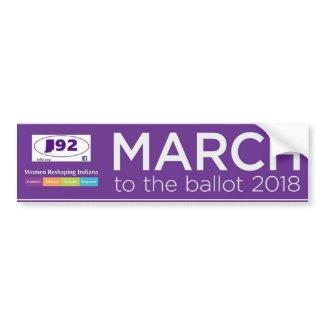 March To The Ballot 2018 Bumper Sticker