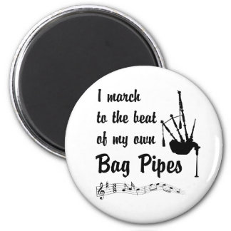 March to the Beat: Bag Pipes Magnet
